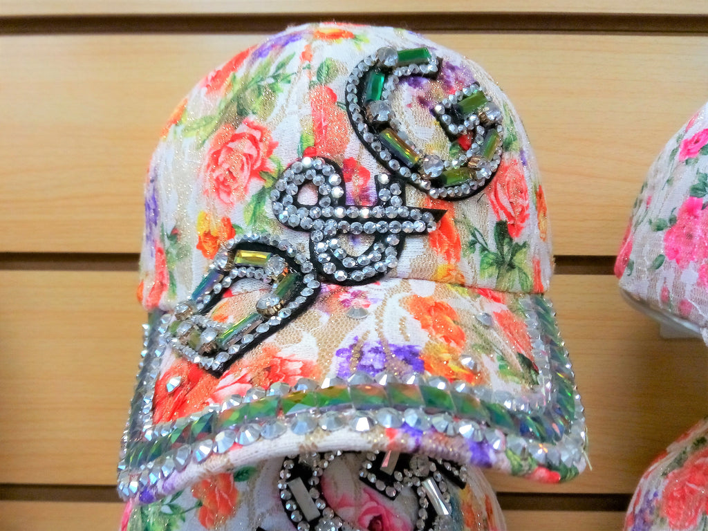 """D & G"" BEADED BLING RHINESTONE COLORFUL WOMEN'S & GIRL CAP - WESTERN SUMMER FASHION ART BRAND NEW -- Free Shipping"