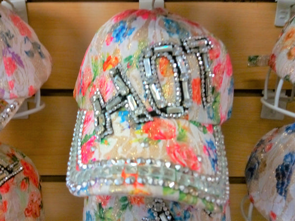 """HOT"" BEADED BLING RHINESTONE COLORFUL WOMEN'S & GIRL CAP - WESTERN SUMMER FASHION ART BRAND NEW--Free Shipping"