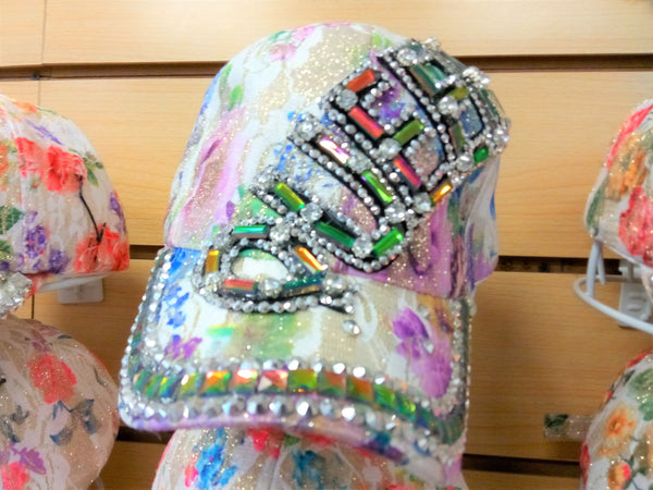 """QUEEN"" BEADED BLING RHINESTONE COLORFUL WOMEN'S & GIRL CAP - ""QUEEN WESTERN SUMMER FASHION ART BRAND NEW-- Free Shipping"