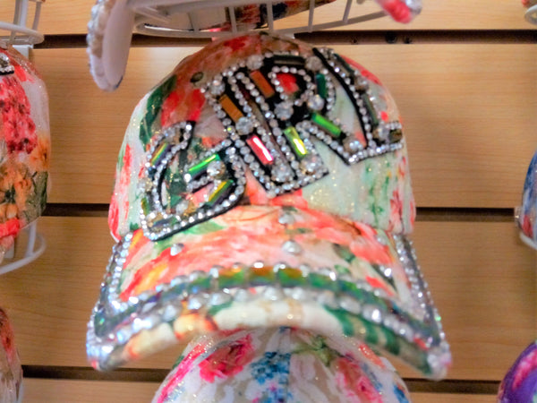 """GIRL"" BEADED BLING RHINESTONE COLORFUL WOMEN'S & GIRL CAP - WESTERN SUMMER FASHION ART BRAND NEW -- Free Shipping"