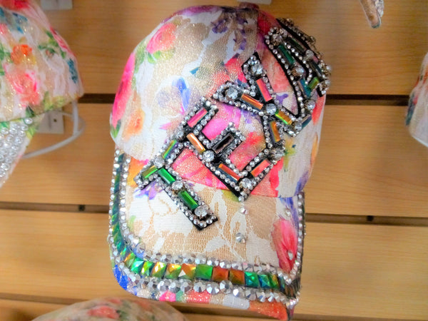 """TEXAS"" BEADED BLING RHINESTONE COLORFUL WOMEN'S & GIRL CAP - WESTERN SUMMER FASHION ART BRAND NEW-- Free Shipping"