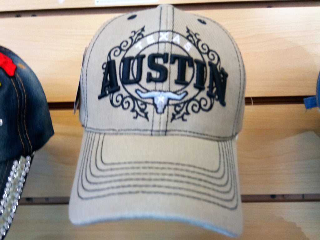 AUSTIN TEXAS VINTAGE BASEBALL CAP - EMBROIDERED BALL CAP, BRAND NEW-- Free Shipping