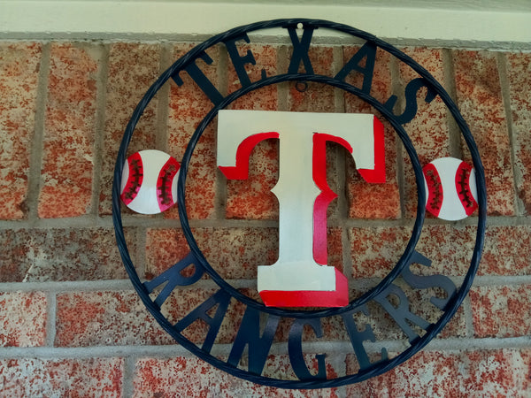 "12"", 18"", 24"", 32"" TEXAS RANGERS BARN METAL CUSTOM VINTAGE CRAFT TEAM OFFICIAL LICENSED PRODUCT"