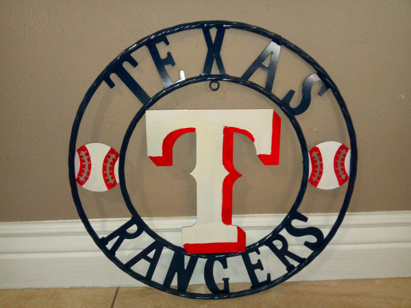"12"", 18"", 24"", 32"" TEXAS RANGERS BARN TEAM METAL WESTERN HOME DECOR WALL ART, BRAND NEW#"