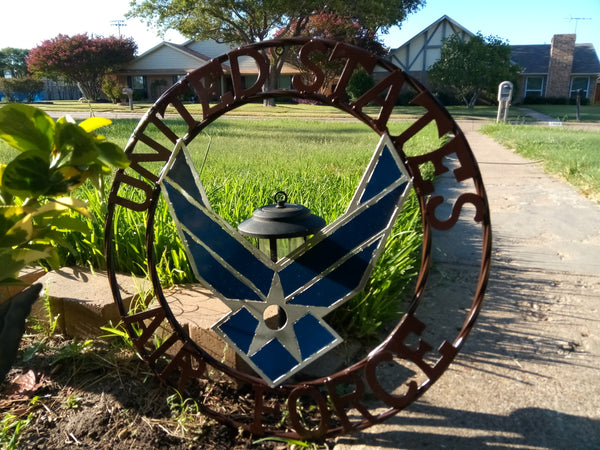"24"" US AIRFORCE MILITARY METAL WALL ART WESTERN HOME DECOR VINTAGE RUSTIC WALL DECOR NEW"