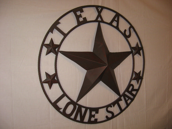 "TEXAS LONESTAR METAL ART WESTERN HOME WALL DECOR RUSTIC VINTAGE BROWN NEW, SIZE:24"",32"",36"",40"",42"",44"",46"",50"""