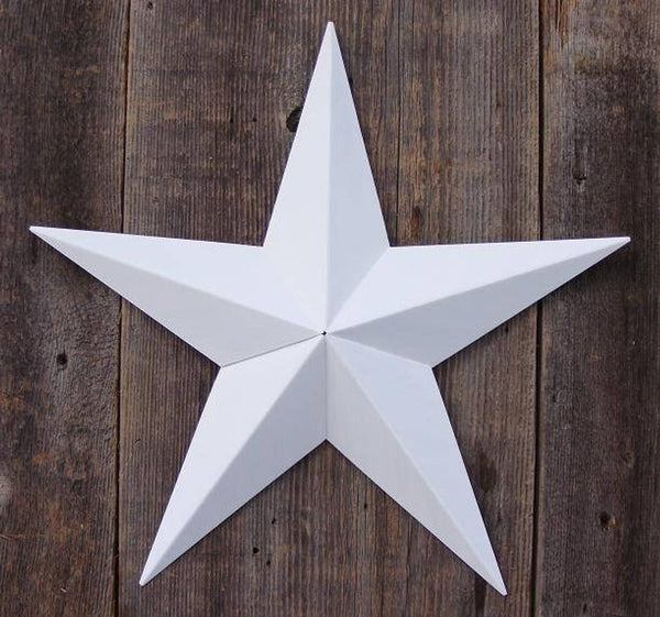 "12"", 17"", 24"", 30"", 36"" FARMHOUSE WHITE BARN METAL STAR WALL ART WESTERN HOME DECOR VINTAGE RUSTIC ART NEW"