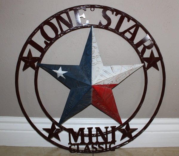 CUSTOM NAME BARN STAR RED WHITE BLUE LONE STAR CUSTOM 3d STAR METAL NAME BARN STAR WITH TWISTED ROPE RING DESIGN METAL WALL ART WESTERN HOME DECOR VINTAGE RUSTIC RED WHITE BLUE NEW HANDMADE