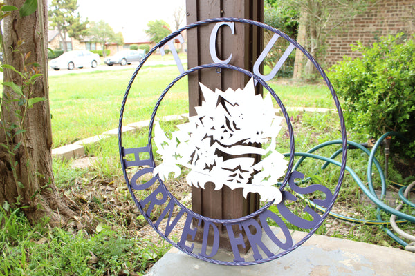 "12"", 18"", 24"", 32"" TCU HORNED FROGS METAL CUSTOM VINTAGE CRAFT OFFICIAL LICENSED PRODUCT"