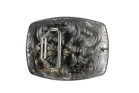 DOUBLE HORSE BELT BUCKLE WESTERN FASHION ART Item#3282-6 RED-WS BRAND NEW