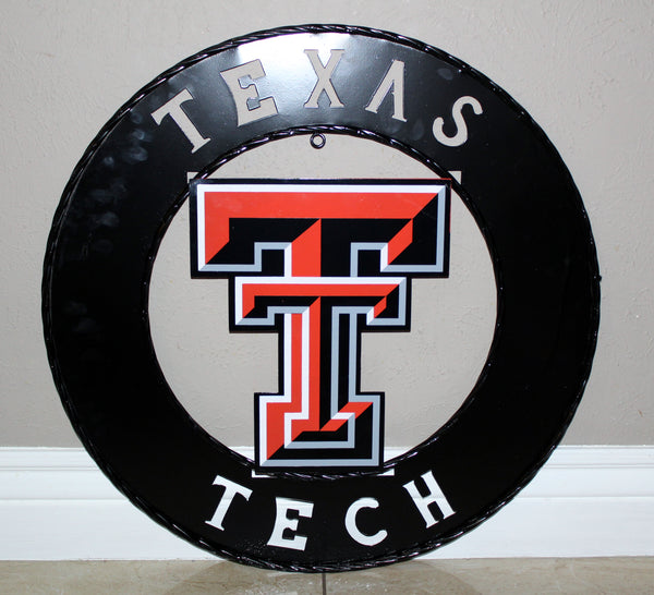 "12"", 18"", 24"", 32"" TEXAS TECH METAL COLLEGE WESTERN HOME DECOR WALL ART, BRAND NEW#"