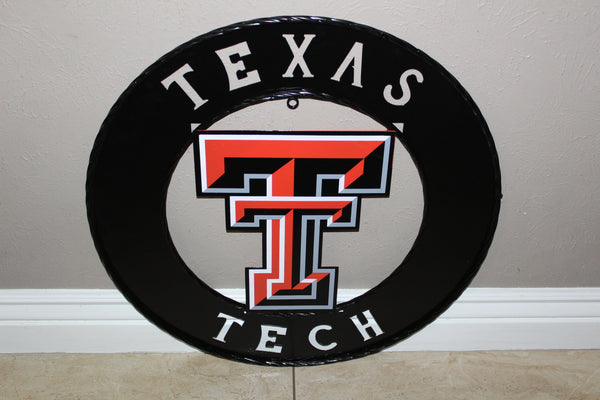 TEXAS TECH METAL CUSTOM VINTAGE ART