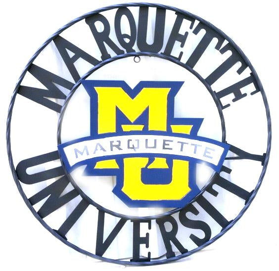 "12"", 18"", 24"", 32"" MARQUETTE UNIVERSITY METAL CUSTOM VINTAGE CRAFT OFFICIAL LICENSED PRODUCT"