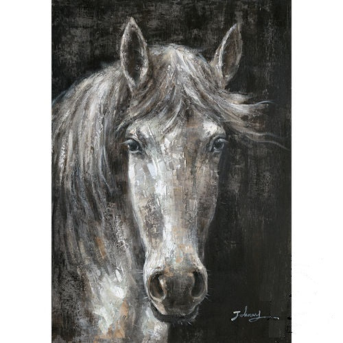 "HORSE CANVAS PAINTING PICTURE WESTERN COUNTRY HOME DECOR HANDMADE WALL ART NEW SIZE: 28"" x 40"", Item#RA0176"