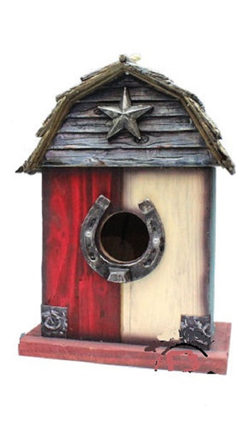 HORSESHOE STAR BIRDHOUSE-#RA1379-BRAND NEW-FREE SHIPPING