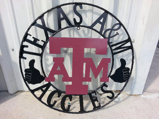 "12"", 18"", 24"", 32"" TEXAS A&M METAL COLLEGE WESTERN HOME DECOR WALL ART, BRAND NEW#"