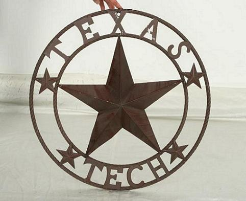 "TEXAS TECH LONE STAR CUSTOM VINTAGE METAL TEAM CRAFT ART WESTERN HOME DECOR SIZE:24"",32"",36"",40"",42"",44"",46"",50"""