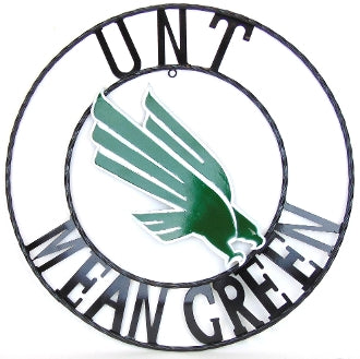 "12"", 18"", 24"", 32"" UNT MEAN GREEN METAL COLLEGE WESTERN HOME DECOR WALL ART, BRAND NEW#"