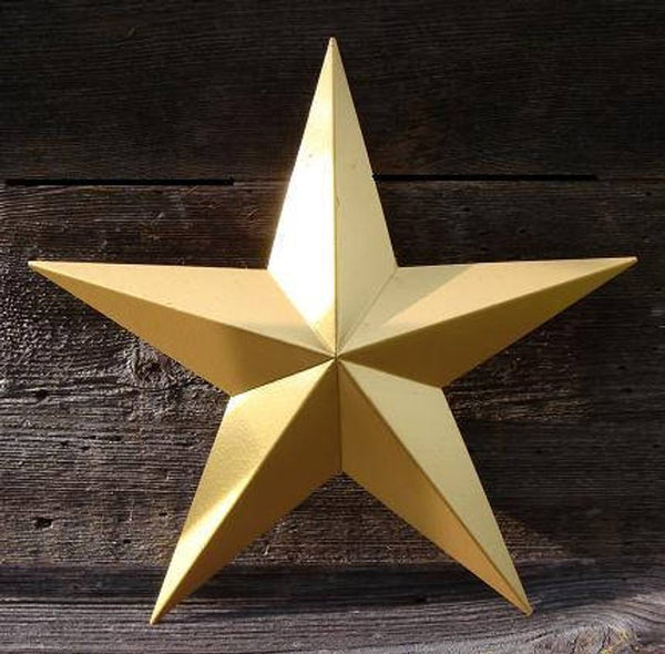 "12"", 17"", 24"", 30"", 36"" RUSTIC GOLD METALLIC BARN METAL STAR WALL ART WESTERN HOME DECOR VINTAGE RUSTIC ART NEW"