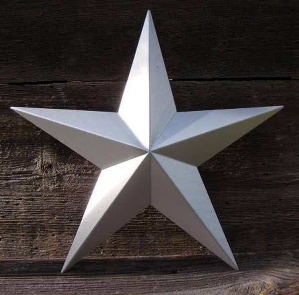 "12"", 17"", 24"", 30"", 36"" RUSTIC SILVER BARN METAL STAR WALL ART WESTERN HOME DECOR VINTAGE RUSTIC ART NEW"