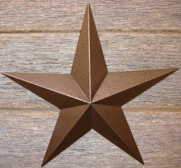 "12"", 17"", 24"", 30"", 36"" RUSTIC HAMMERED COPPER BARN METAL STAR WALL ART WESTERN HOME DECOR VINTAGE RUSTIC ART NEW"