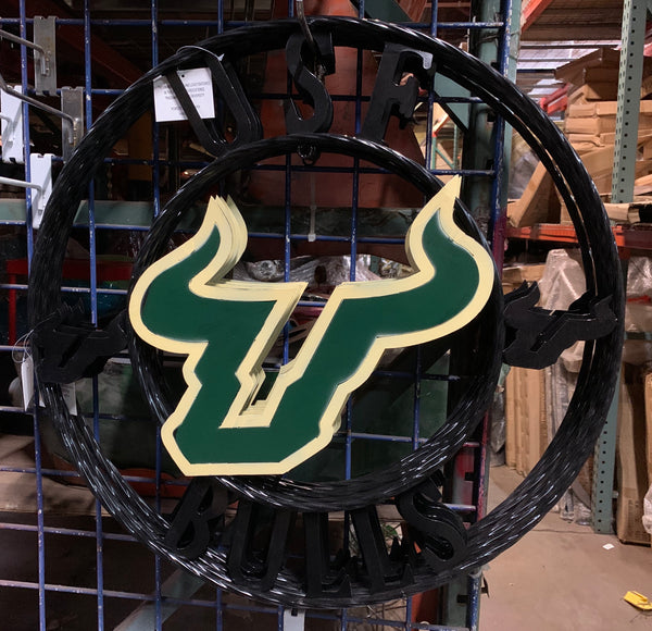 "12"", 18"", 24"", 32"" USF BULLS METAL TEAM COLLEGE WESTERN HOME DECOR WALL ART BRAND NEW"