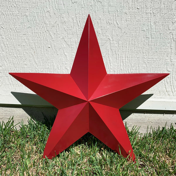 "RUSTIC BURGUNDY RED BARN METAL STAR WALL ART WESTERN HOME DECOR VINTAGE RUSTIC ART NEW 3"", 4"",5"",6"",9"",12"", 17"", 24"", 30"", 36"
