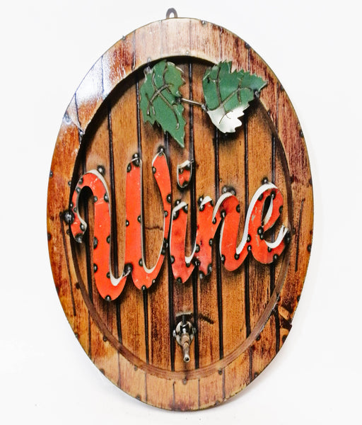 "15"" WINE METAL SIGN WALL ART WESTERN HOME DECOR BRAND NEW"