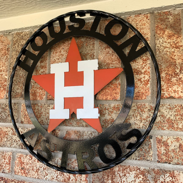 HOUSTON ASTROS METAL CUSTOM VINTAGE WALL ART