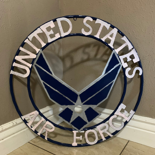 "24"" US AIRFORCE MILITARY METAL WALL ART WESTERN HOME DECOR NEW"