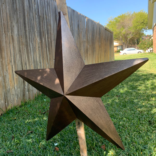 "24"" BRONZE COPPER BARN METAL STAR WESTERN HOME DECOR WALL ART NEW"