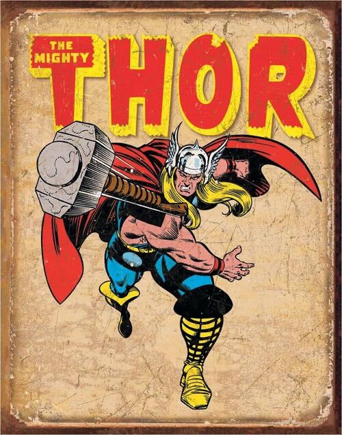 THOR TIN SIGN METAL ART WESTERN HOME DECOR CRAFT