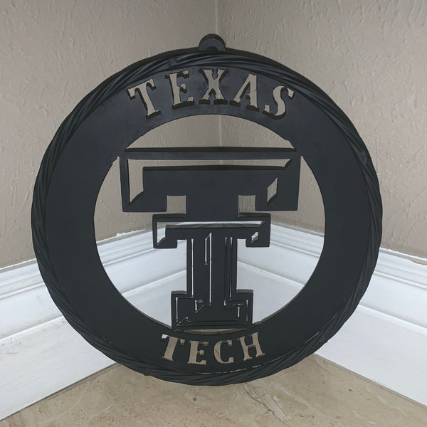 "12"",18"",24"",32"",36"" TEXAS TECH BLACK METAL CUSTOM VINTAGE CRAFT TEAM OFFICIAL LICENSED PRODUCT"
