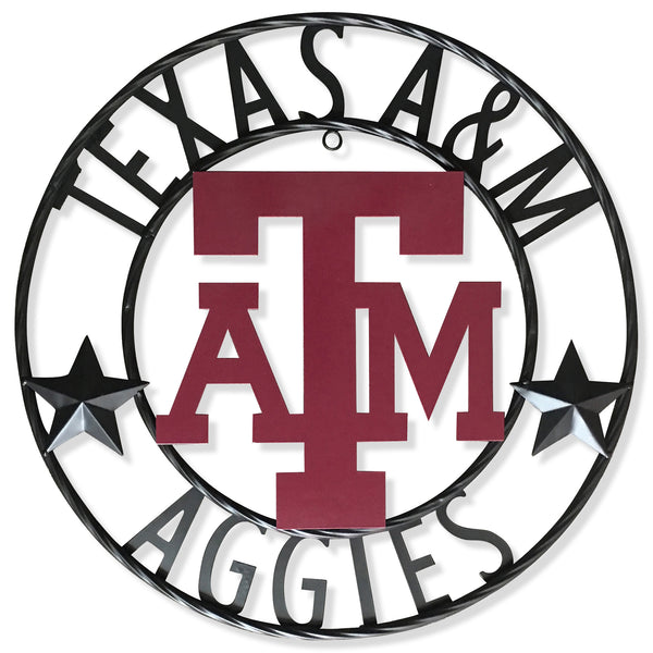 "12"", 18"", 24"", 32"" TEXAS A&M AGGIES METAL CUSTOM VINTAGE CRAFT WALL ART TEAM SIGN HANDMADE"