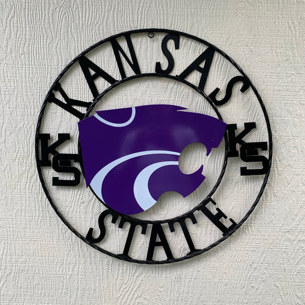 "12"", 18"", 24"", 32"" KANSAS STATE WILDCATS  METAL CUSTOM VINTAGE CRAFT OFFICIAL LICENSED PRODUCT"