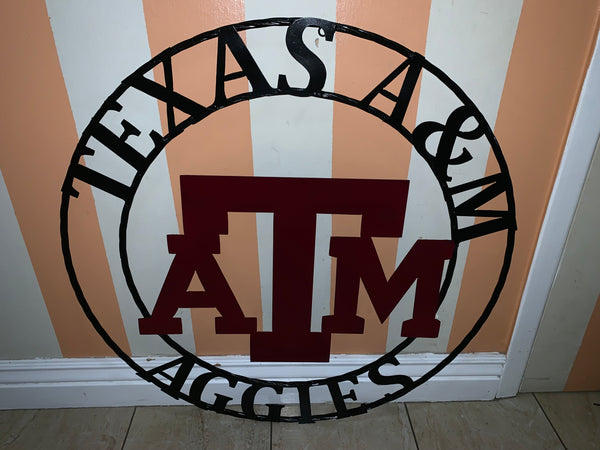 "12"", 18"", 24"", 32"" TEXAS A&M METAL CUSTOM VINTAGE CRAFT OFFICIAL LICENSED PRODUCT"
