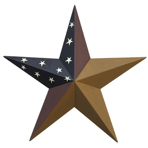 "COLONIAL BARN STAR METAL Wall Art Western Home Decor Handmade 5"",8""12"",18"",24""- FREE SHIPPING"