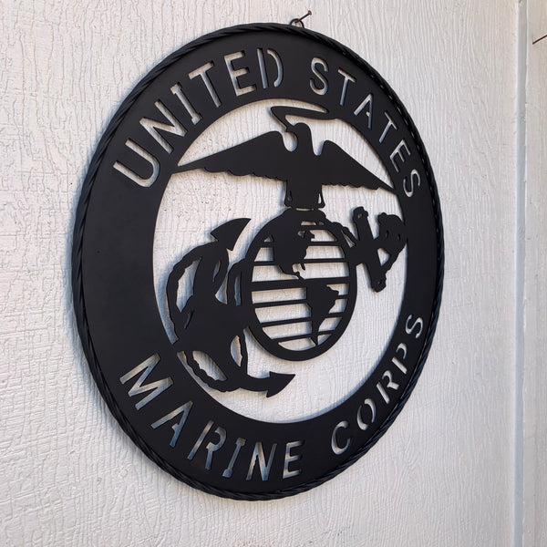 "24"" USA MARINE CORPS MILITARY LASERCUT METAL WALL ART WESTERN HOME DECOR HANDMADE"