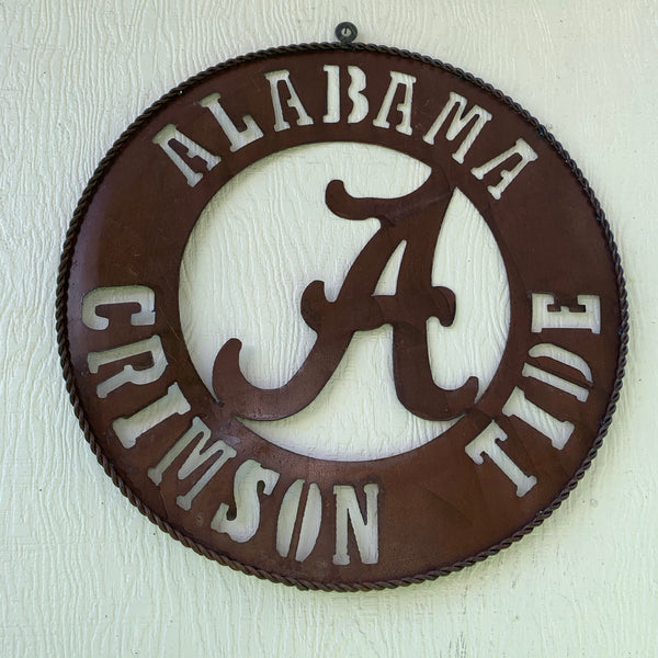 ALABAMA CRIMSON TIDE METAL LASERCUT SIGN VINTAGE CUSTOM TEAM ART