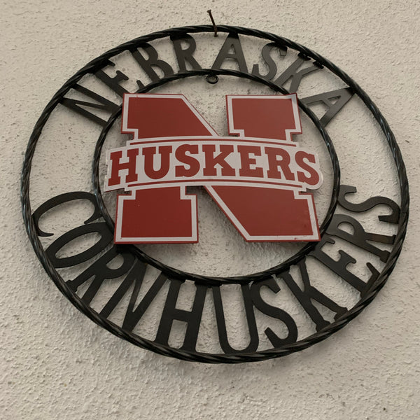 "12"", 18"", 24"", 32"" NEBRASKA HUSKERS METAL CUSTOM VINTAGE CRAFT OFFICIAL LICENSED PRODUCT"