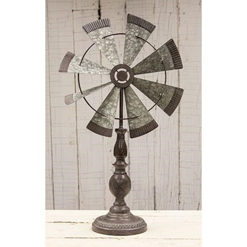 WINDMILL PEDESTAL FARMHOUSE WALL ART METAL WESTERN HOME DECOR NEW