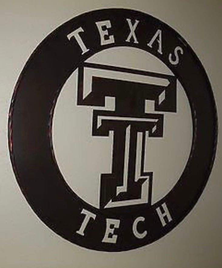 "12"", 18"", 24"", 32"" TEXAS TECH METAL CUSTOM VINTAGE CRAFT OFFICIAL LICENSED PRODUCT"