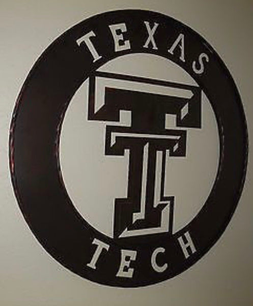 "12"", 18"", 24"", 32"" TEXAS TECH METAL COLLEGE WESTERN HOME DECOR WALL ART  RUSTIC BROWN ART BRAND NEW"