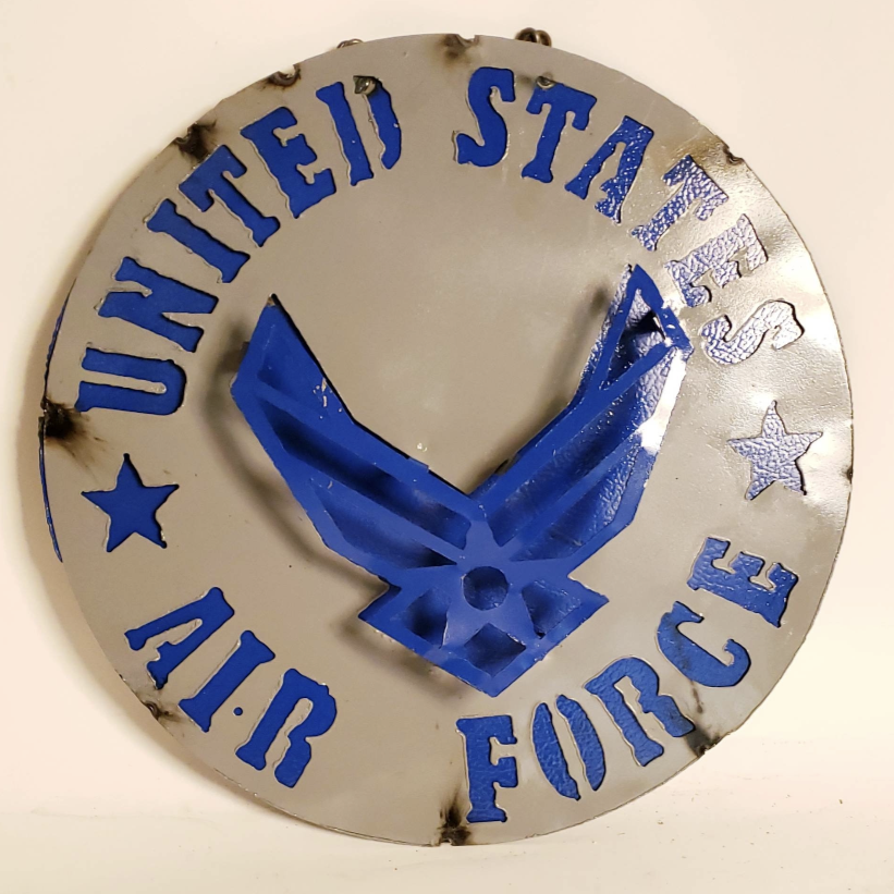 "15"" US AIRFORCE METAL SIGN WALL DISC ART WESTERN HOME DECOR BRAND NEW"