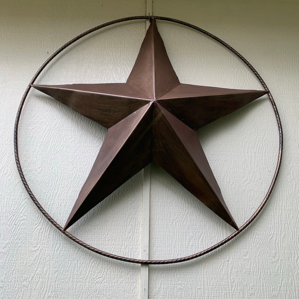 "4, 5, 6 FOOT TEXAS GIANT BARN LONE STAR METAL ART WESTERN HOME DECOR VINTAGE RUSTIC BRONZE BRUSHED COPPER 60"", 5 FOOT, 72"" 6 FOOT  HAND PAINTED"