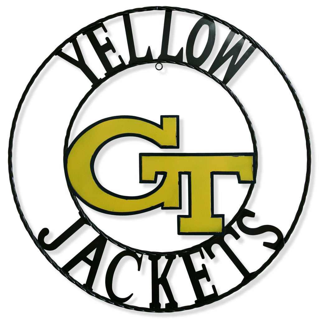 "12"", 18"", 24"", 32"" GEORGIA TECH YELLOW JACKETS METAL SIGN VINTAGE CUSTOM TEAM ART"