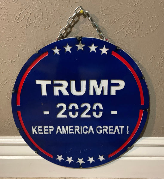 "15"" TRUMP KEEP AMERICA GREAT METAL SIGN WALL ART WESTERN HOME DECOR BRAND NEW"