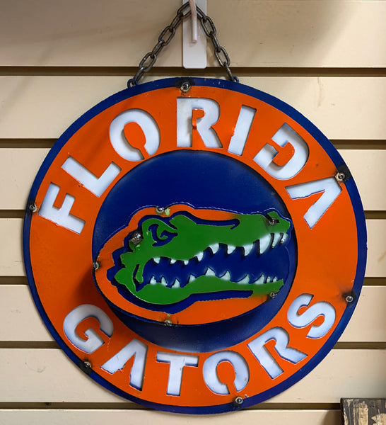 "15"" FLORIDA GATORS TEAM COLLEGE METAL WALL ART WESTERN HOME DECOR BRAND NEW"