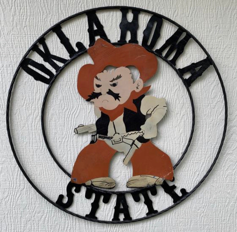 "12"", 18"", 24"", 32"" OKLAHOMA STATE COWBOYS METAL CUSTOM VINTAGE CRAFT Art"
