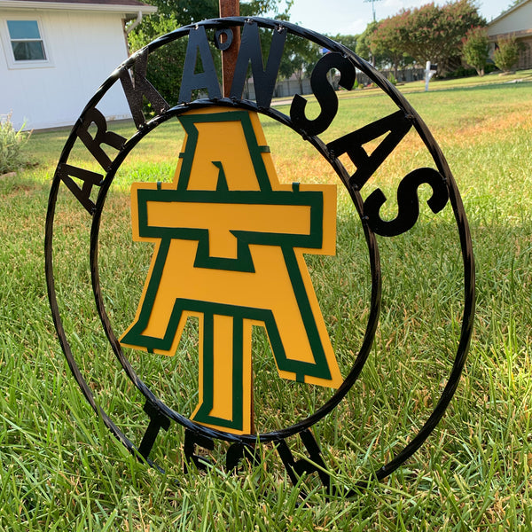 ARKANSAS TECH METAL TEAM CUSTOM VINTAGE WALL ART CRAFT SIGN HANDMADE